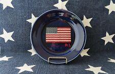 RALPH LAUREN HOME SET OF 4  US FLAG SWEATER MOTIF DESSERT SALAD PLATES