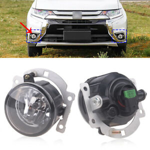 Left/Right Front Bumper Fog Light Lamp For 2007-15 Mitsubishi Outlander ASX RVR