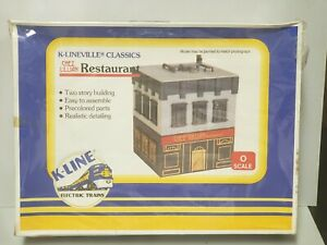 "K-Lineville  Building Kit O Scale Model ""Chez Lillian""  Restaurant MIB ""Sealed"""