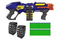 NEW Toy Gun Mega Mastodon Zombie Blaster Rapid Fire Foam Soft Bullets Nerf Style