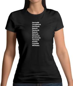 13 Doctors Womens T-Shirt - Who - Tv - Tardis - Darlek