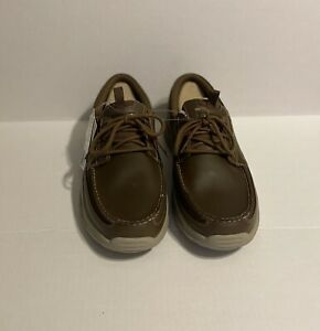 Skechers Men's Brown Air-Cooled Memory Foam Relaxed Fit Boat Shoes NEW Size 12