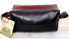 NWT Alchemy Goods BLACK RECYCLED RUBBER TIRE RED ZIP TOILETRY SHAVING KIT DOPP