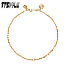 TTstyle 18K Color Gold Filled Chain Anklet Jingle Bell NEW