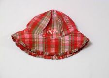 Baby Gap Flowers & Butterfly Madras Plaid Ruffle Bucket Hat, 2T-3T