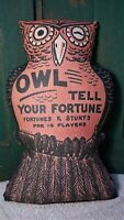 PRIMITIVE VINTAGE HALLOWEEN OWL PILLOW FROM OLD BEISTLE DECORATION DESIGN GAME