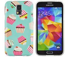 Schutzhülle f Samsung Galaxy S5 i9600 G900 Tasche Case Cover Cupcake Muffin