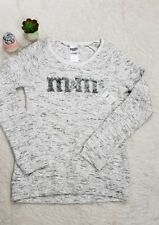 NWT M&Ms Womens Sequin Pullover Sweater Marled Gray M Medium