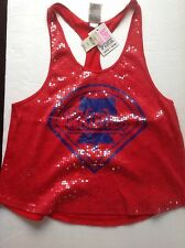 Victorias Secret PINK MLB Phillies Sequined Tank Top NWT L Licensed