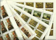 USSR 1986 n° 5316-20 MNH ** YT 53€ PAINTINGS IN THE TRETYAKOV GALLERY (5 SHEETS)