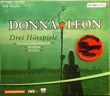 5xCD Donna Leon - Tres Hörspiele :Vendetta Nobilta Venizianische