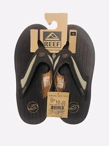 NWT Reef Sandals Brown Thong Flex Flip Flop Beach Casual Slippers Mens Size 10