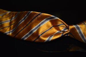 MODERN Robert Talbott Best of Class Marigold Satin Blue Multi Stripe Silk Tie NR