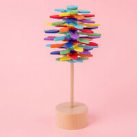 1pc Rotating Lollipop Toy Lollipop Spin Toys Wooden Revolving Lollipop for Dorm