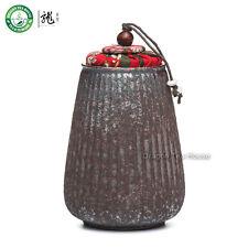 Mano a forma di melone in legno stile antico sparato ceramica tè Canister 270ml