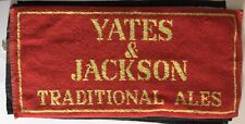 Vtg Beer Pub Towel Yates And Jackson Traditional Ales 17 1/2� X 8 1/4�