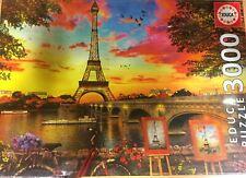 Puzzle 3000 puesta de Sol en París educa Borras