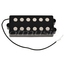 Black 6 String Bass Guitar Pickup Humbucker For Music Man Bass Coil Tap