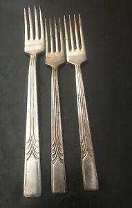 Vintage X 4 Silver Plate SHEFFIELD  Sheringham England  Entree & Dinner Fork