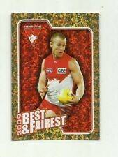 2010 AFL SELECT SYDNEY SWANS RYAN O'KEEFE Herald Sun Best & Fairest BF14 CARD