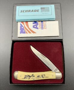 SPECIAL EDITION SCHRADE USA SC503 MALLARD DU SCRIMSHAW JACK POCKET KNIFE KNIVES