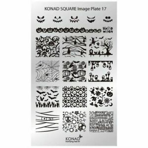 Konad Nail Art Halloween Square Stamping Image Plate - 18 Designs
