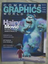 COMPUTER GRAPHICS WORLD MAGAZINE OCTOBER 2001 HAIRY MOVIE PIXAR VERY GOOD COND.!