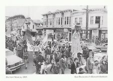 """""""Protest March, 1983"""" /Golden Gate Pk/ *S.F.'s Haight-Ashbury (A21-5) {Postcard}"""