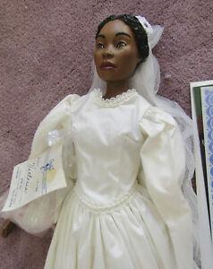 Daddys Long Legs Doll, Victoria, bride doll w/bouquet, tag, artist signed, 1994