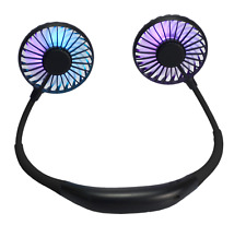 Black LED Neck Fan