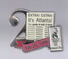 1996 Day 2 Its Atlanta Olympic Pin Media Press Newspaper Silver Set