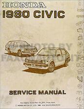 1980 Honda Civic Shop Manual Original 80 Repair Service Book OEM DX GL
