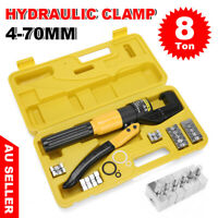 8 Ton Hydraulic Terminal Crimper Wire Cable Lugs Crimping Tool Kit 9 Dies 4-70mm