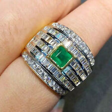 STUNNING 2.88TCW COLOMBIAN EMERALD VS Diamond 18K solid yellow gold ring Natural