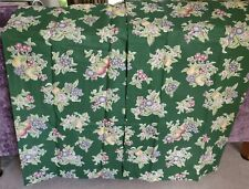Retro Kitchen Unlined Curtains - Green with Fruits - Cottage - New - No. 2