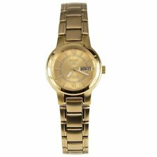 Seiko Ladies Series 5 Automatic Gold Dial Watch - SYME58K1 NEW