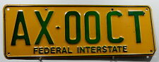 "Nummernschild Australien ACT ""FEDERAL INTERSTATE"". 4388."