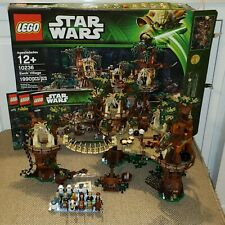 Lego Star Wars 10236 Ewok Village 100% Complete-with box, manual, new stickers