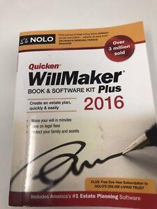 Quicken Willmaker Plus 2016 Edition: Book & Software Kit Nolo, Editors of Paper
