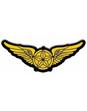 Pilot Wings Iron On Applique Costume Jet Fighter Patch Accessory
