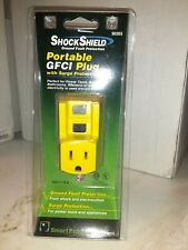 New Shock Shield Portable GFCI P/n 90265 Outlet Plug, 120V/15A
