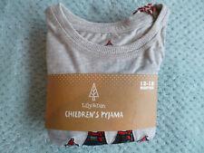 BNWT, Grey  Lily and Dan Children's Christmas Polar Bear Pyjamas - Size 12-18 m