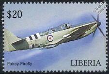 Royal Navy Fairey Firefly librea aviones Sello de Día D (Liberia)