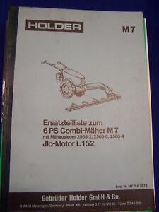 Original Ersatzteilliste Holder M7 Combimäher mit ILO Motor - Rarität