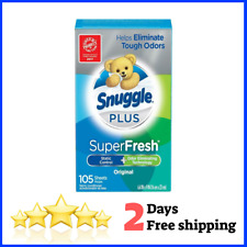 Fresh Fabric Softener Dryer Sheets Static Control Odor Eliminating 105 count