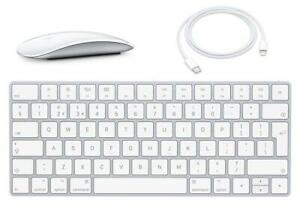 New Apple Wireless Magic Keyboard MLA22LL/A & Magic Bluetooth Mouse 2 MLA02LL/A