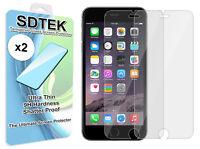 x2 SDTEK Verre Trempé pour iPhone 8 / 7 / 6s / 6 Protection écran