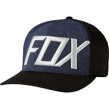 Fox Blocked Out Flexfit Hat Cap Size Small/Medium Black/Navy