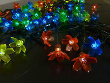 100LED 10.9M MULTI COLOUR SOLAR CHERRY BLOSSOM FLOWER CHRISTMAS WEDDING LIGHTS
