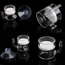 Flat Aquarium Fish Tank Pollen CO2 Diffuser Regulator Glass Ceramic+Suction Cup